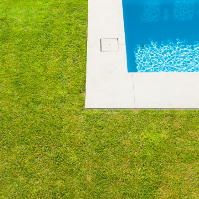 artificial grass by the pool